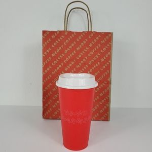 Starbucks Red 'Hand Warmer' Grande 16oz Hot Cup